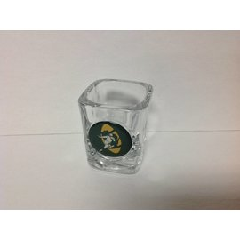 Green Bay Packers Square Shotglass with Throwback Logo