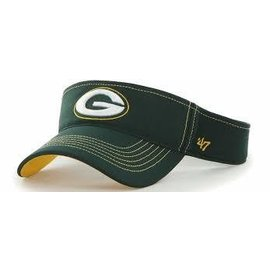 Green Bay Packers Green Visor with G & Yellow Stitching