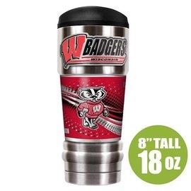 Wisconsin Badgers 18 oz MVP Travel Tumbler
