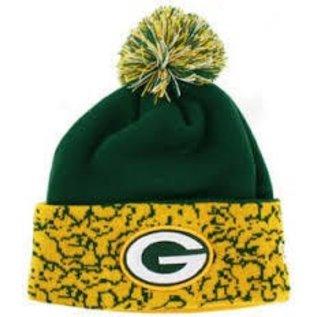 New Era Green Bay Packers Mens Cuffed Chaos Knit Hat