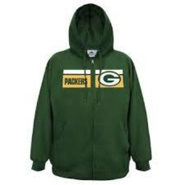 Green Bay Packers Men's Full Zip Hoodie