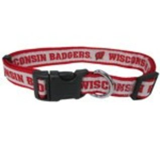 Wisconsin Badgers Dog Collar - Size Large