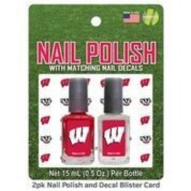 Wisconsin Badgers 2 Pack Nail Polish