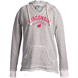 Wisconsin Badgers Women's Striped French Terry Hoodie