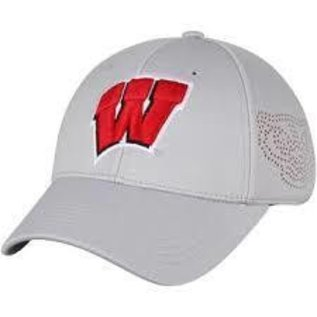 Wisconsin Badgers Rails Light Grey One Fit Hat