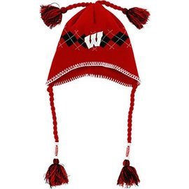 New Era Wisconsin Badgers Tassel-gyle Knit Hat