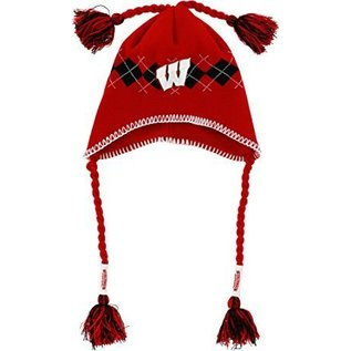 New Era Wisconsin Badgers Tassel-gyle Knit Hat