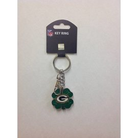 Green Bay Packers 4 Leaf Clover Keychain