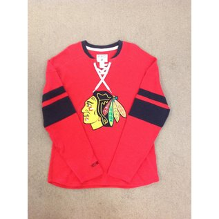 Adidas Chicago Blackhawks Men's Long Sleeve Jersey with Strings