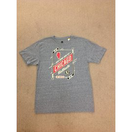 Adidas Chicago Blackhawks Men's Gray Short Sleeve Tee