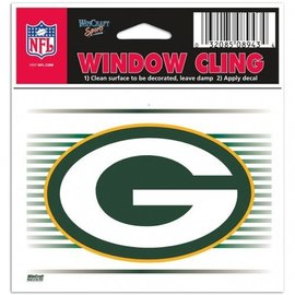 WinCraft, Inc. Green Bay Packers 3x4 Static Cling-G with Stripes