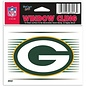 WinCraft, Inc. Green Bay Packers 3x3 Static Cling-G with Stripes