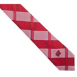 Eagles Wings Wisconsin Badgers Skinny Plaid Tie