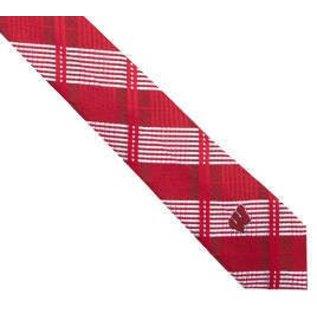 Eagles Wings Wisconsin Badgers Skinny Plaid Tie