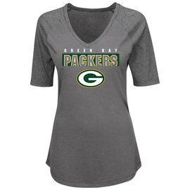 Majestic Green Bay Packers Women's My Team 1/2 Sleeve Tee