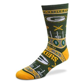 For Bare Feet Green Bay Packers Super Fan Socks Size Youth