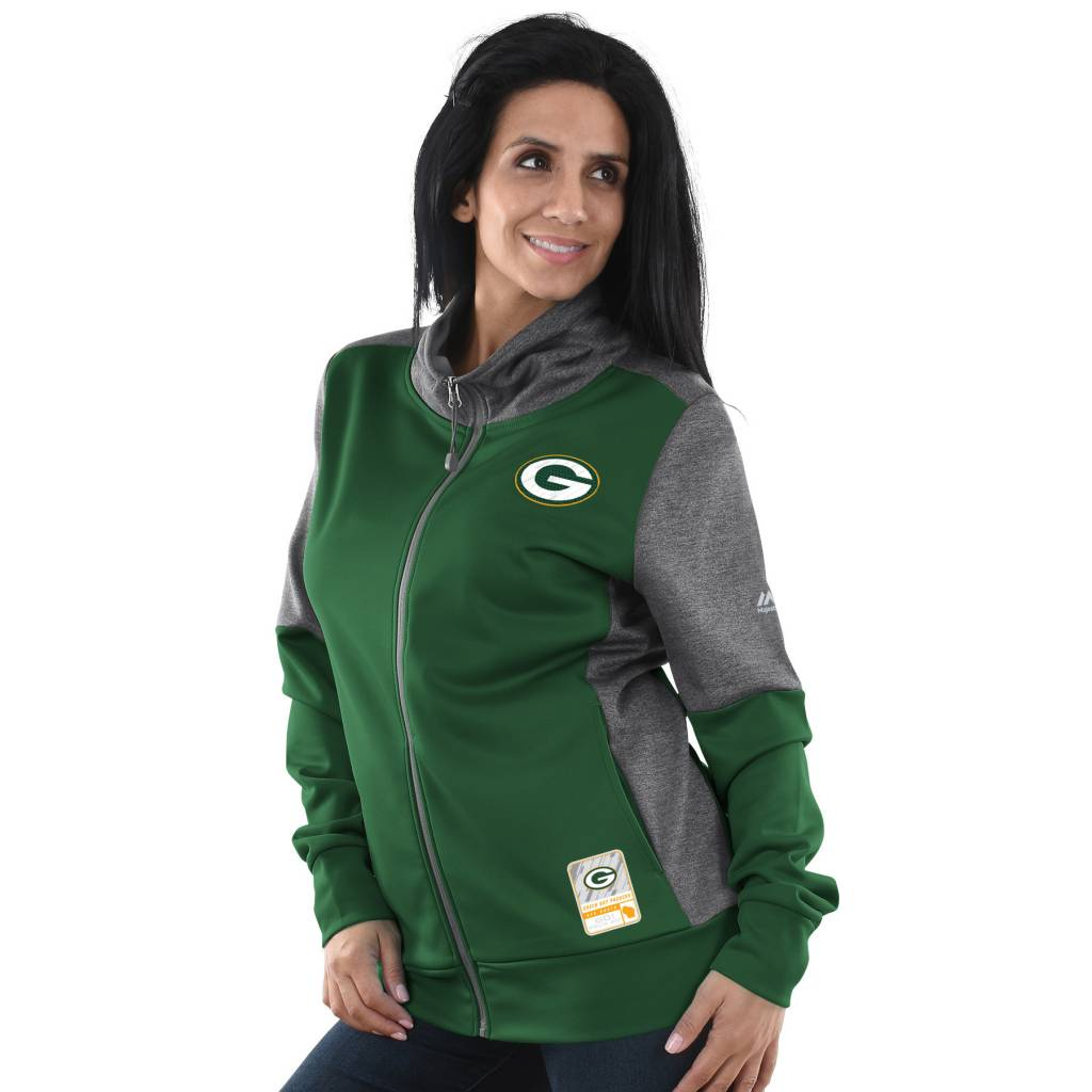 Green Bay Packers Women s Speed Fly Track Jacket - Packerland Plus 107ee42f5