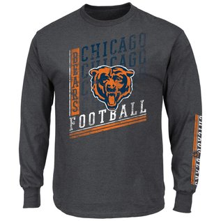 Majestic Chicago Bears Men's Dual Threat Long Sleeve Tee