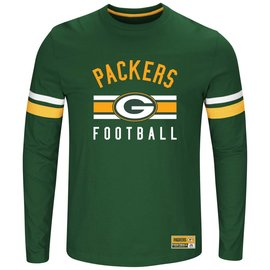 Majestic Green Bay Packers Men's Power Hit Long Sleeve Tee