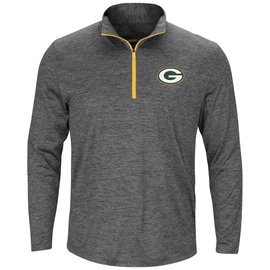 Majestic Green Bay Packers Men's Power Run 1/4 Zip