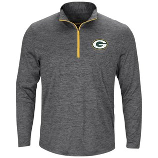 Majestic Green Bay Packers Men's Power Run 1/4 Zip