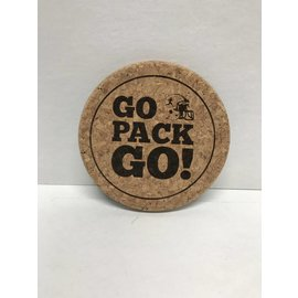 Green Bay Packers Go Pack Go Cork Coaster