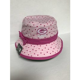Green Bay Packers Child Pink Bow Bucket Hat