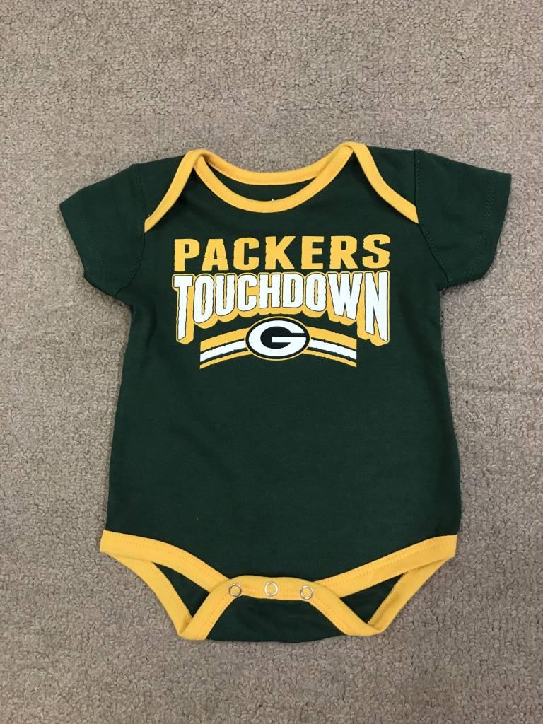 Green Bay Packers Newborn Playmaker Onesie Packerland Plus