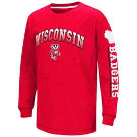 Wisconsin Badgers Youth Grandstand Long Sleeve Tee