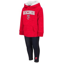 Colosseum Wisconsin Badgers Toddler Girls Triathalon 2 PC Set