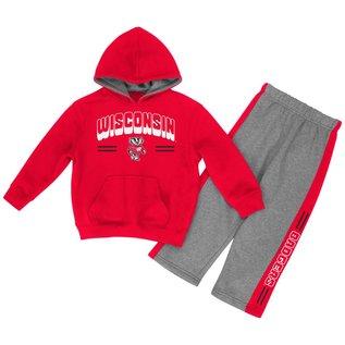 Colosseum Wisconsin Badgers Infant Punter 2 PC Fleece Set
