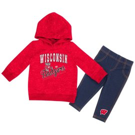 Wisconsin Badgers Infant Girls Toe Flip 2 PC Set