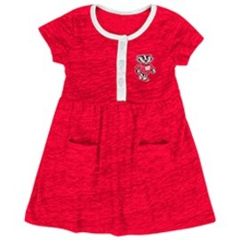 Colosseum Wisconsin Badgers Infant Triple Jump Dress