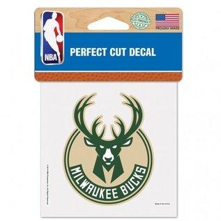 WinCraft, Inc. Milwaukee Bucks 4x4 Perfect Cut Decal