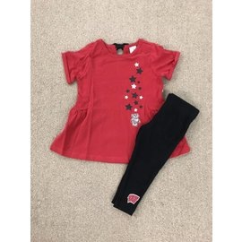 Wisconsin Badgers Infant Girls Shot Put 2 Pc Set