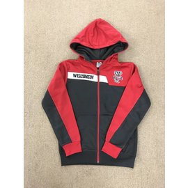 Wisconsin Badgers Youth Jackknife Full Zip Hoodie