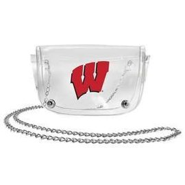 Little Earth Wisconsin Badgers Clear Waist Pack