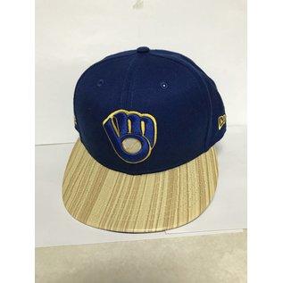 New Era Milwaukee Brewers 9-50 Topps Ball and Glove Logo Flatbill Snapback