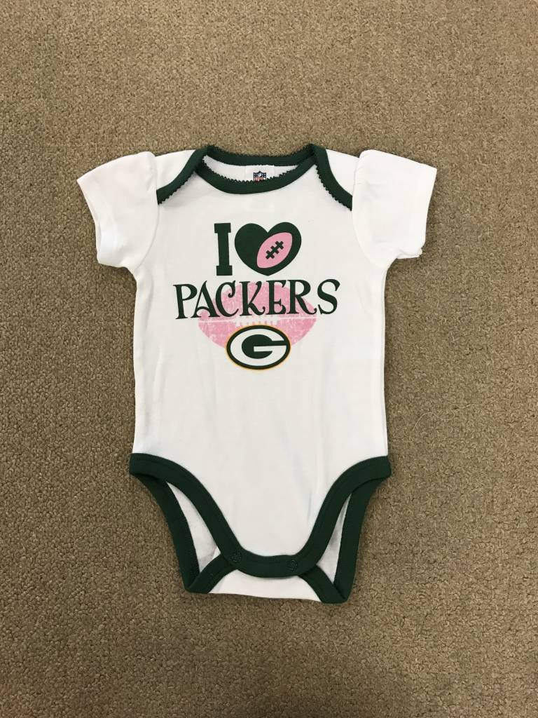 95af5a8a Green Bay Packers Infant White Onesie