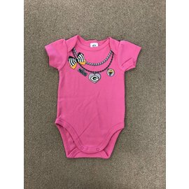 Green Bay Packers Infant Pink Onesie