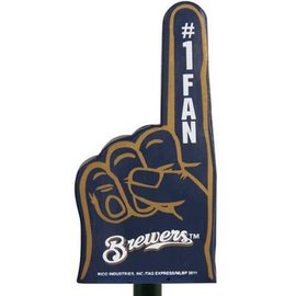 Rico Industries, Inc. Milwaukee Brewers #1 Fan Foam Finger Antenna Topper