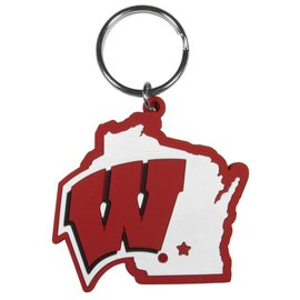 Wisconsin Badgers Home State Flexi Keychain