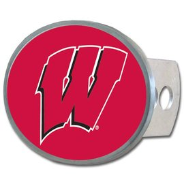 Wisconsin Badgers Metal Hitch Cover