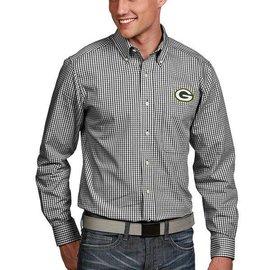 Antigua Green Bay Packers Men's Associate Long Sleeve Full Button Shirt