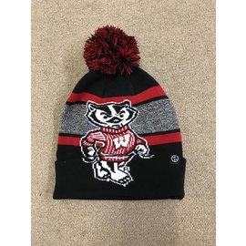 Wisconsin Badgers Mammoth Cuffed Knit with Pom