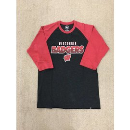 Wisconsin Badgers Men's Club Raglan Short Sleeve Tee