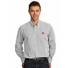 Antigua Wisconsin Badgers Men's Associate Full Button Long Sleeve Shirt