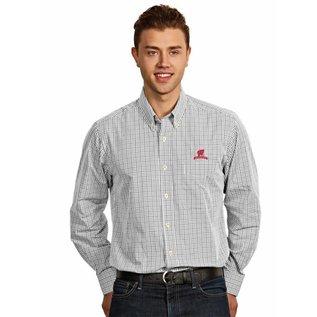 Antigua Wisconsin Badgers Men's Associate Full Button Long Sleeve Shirt