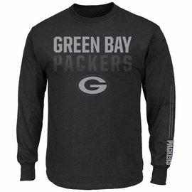 Green Bay Packers Men's Black 2 Hit Long Sleeve Tee