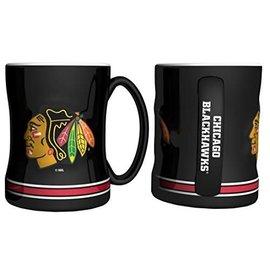 Chicago Blackhawks Black Relief Mug